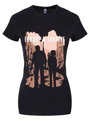 Women's Endure & Survive Tshirt Black  Skinny Fit L (UK 12 to 14)