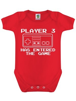 Player 3 Has Entered The Game Red Baby Grow  Baby 6 to 12 Months