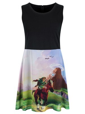 Nintendo The Legend of Zelda Women's Ocarina Of Time Dress  Skinny Fit Medium (UK 10 to 12)