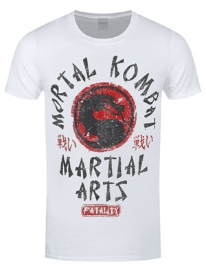 Mortal Kombat Men's Martial Arts Tshirt White / Extra Large (Mens 42