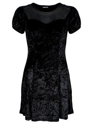Women's Jawbreaker Dotted Mesh Little Skater Dress Black  Skinny Fit Extra Large (UK 14 to 16)