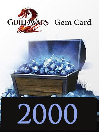 Guild Wars 2 GAMECARD 2000 Gems NCSoft Key EUROPE
