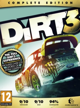 DiRT 3 Complete Edition Steam Key GLOBAL - ボックス