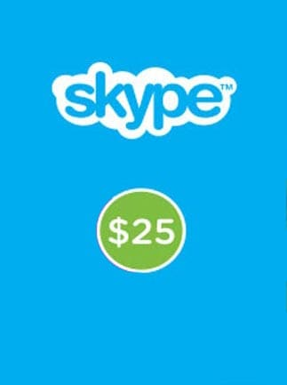 Skype Prepaid Gift Card 25 USD Skype GLOBAL