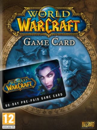 World of Warcraft Time Card Prepaid Blizzard EUROPE 60 Days - box