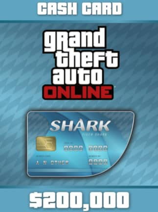 Grand Theft Auto Online: Tiger Shark Cash Card Rockstar GLOBAL 200 000 USD Key PC
