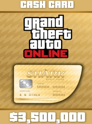 Grand Theft Auto Online: The Whale Shark Cash Card XBOX LIVE GLOBAL 3 500 000 USD Key