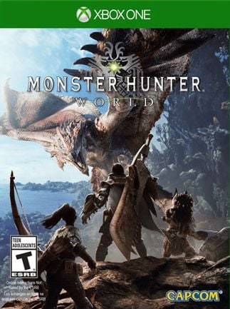 Resultado de imagen de portada Monster Hunter: World xbox one