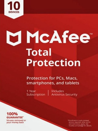McAfee Total Protection 10 Devices 1 Year Key GLOBAL