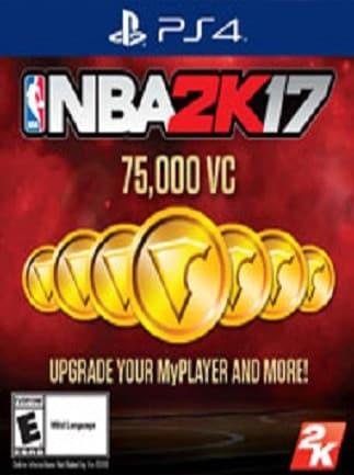 nba 2k17 virtual currency psn north america 75 000 coins key ps4