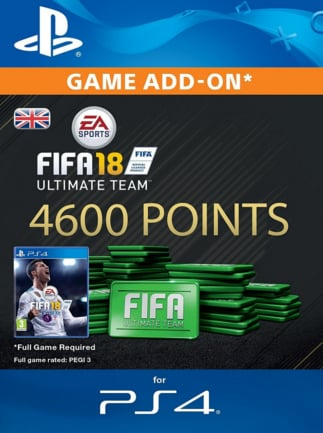 FIFA 18 Ultimate Team PSN GERMANY 4600 Points Key PS4