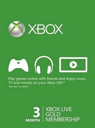 Xbox Live GOLD Subscription Card 3 Months - Xbox Live Key - NEW ZEALAND