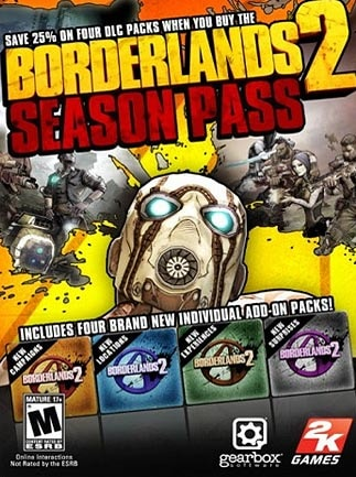 Borderlands 2 - Season Pass Steam Key EUROPE