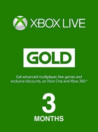 Xbox Live GOLD Subscription Card 3 Months Xbox Live UNITED STATES