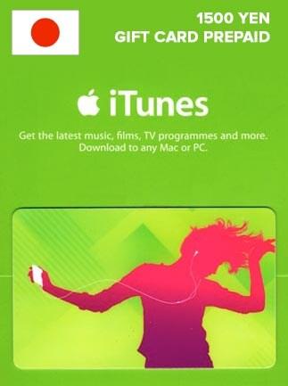 Apple iTunes Gift Card 1 500 YEN iTunes JAPAN - G2A COM