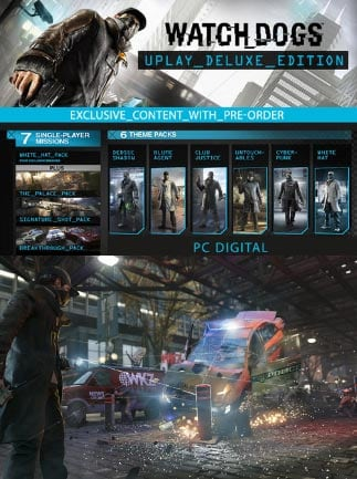Watch Dogs Deluxe Edition Exclusive Content Uplay Key GLOBAL