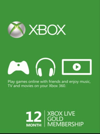 Xbox Live GOLD Subscription Card XBOX LIVE NORTH AMERICA 12 Months