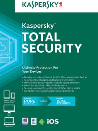 Kaspersky Total Security Multi-Device 5 Devices 1 Year Kaspersky Key GLOBAL - box