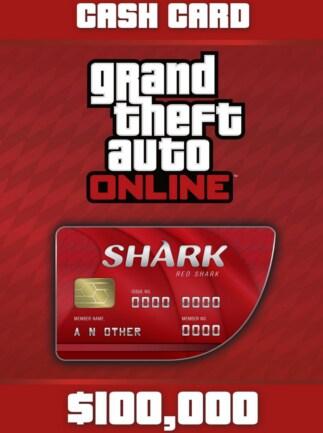 Grand Theft Auto Online: The Red Shark Cash Card 100 000 PC Rockstar Code GLOBAL