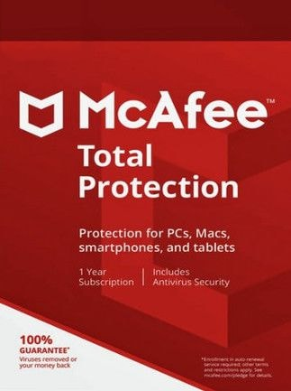 McAfee Total Protection 1 Device 1 Year Key GLOBAL