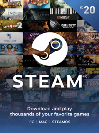 Steam Gift Card GLOBAL 20 EUR Steam Key