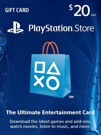PlayStation Network Gift Card 20 USD PSN UNITED STATES - scatola