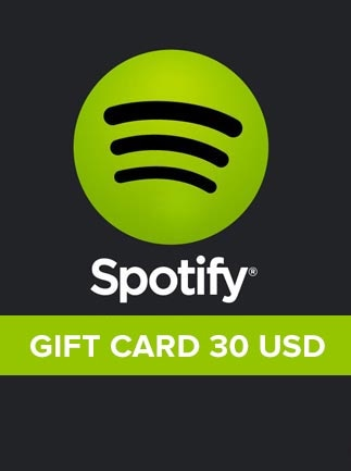 Spotify Gift Card 30 USD Spotify NORTH AMERICA