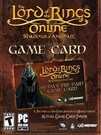 Lord of the Rings Online Time Card Prepaid 60 Days EUROPE LOTRO - G2A COM