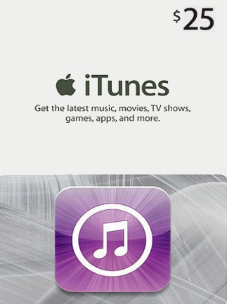 Apple iTunes Gift Card NORTH AMERICA 25 USD iTunes