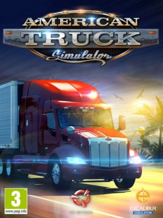 American Truck Simulator Steam Key GLOBAL – boîte