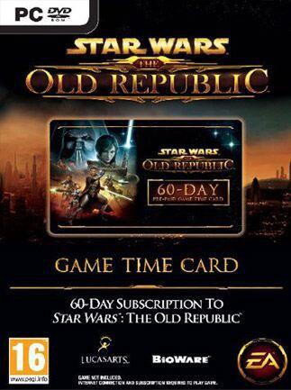 Star Wars The Old Republic Prepaid Time Card Star Wars GLOBAL 60 Days - box