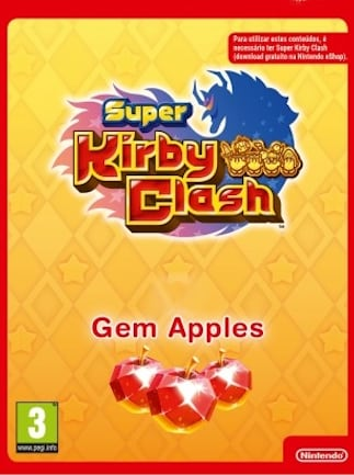 Super Kirby Clash Currency 3000 Gem Apples Nintendo Switch Key EUROPE