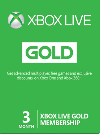Xbox Live GOLD Subscription Card XBOX LIVE GLOBAL 3 Months - box