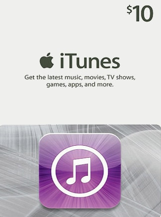 Apple iTunes Gift Card NORTH AMERICA 10 USD iTunes - box