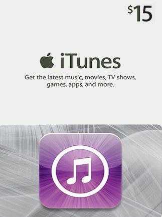 Apple iTunes Gift Card NORTH AMERICA 15 USD iTunes - box