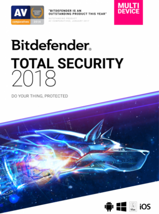 Bitdefender Total Security 2018 1 Device 1 Year Key GLOBAL - box