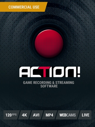 Action! - Game Recording and Streaming (Commercial use) GLOBAL Key - box