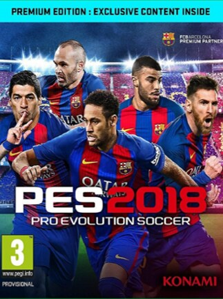 Pro Evolution Soccer 2018 Premium Edition Steam Key GLOBAL ...