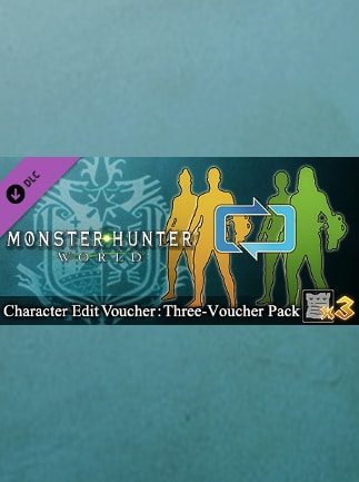 Monster Hunter: World - Character Edit Voucher: Three-Voucher Pack Steam Gift GLOBAL