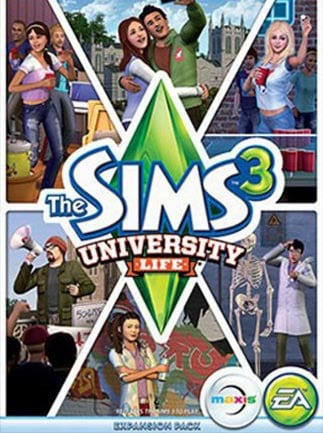 The Sims 3 University Life Key Origin GLOBAL - box