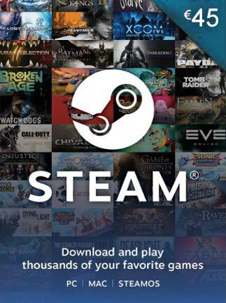 Steam Gift Card 45 EUR Steam Key GLOBAL - box