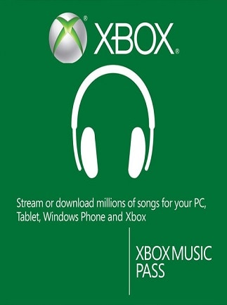 Xbox Music Pass Card Xbox Live NORTH AMERICA 3 Months