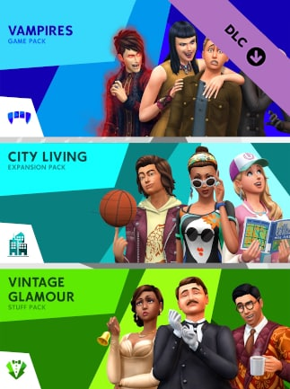 The Sims 4 Bundle - City Living, Vampires, Vintage Glamour Stuff Xbox One - Xbox Live Key - (EUROPE)