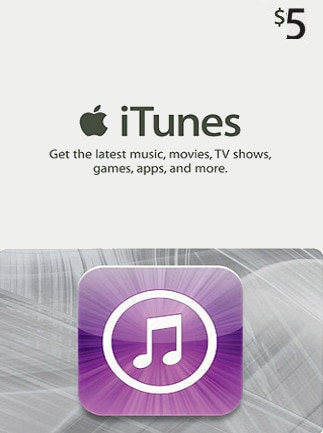 Apple iTunes Gift Card NORTH AMERICA 5 USD iTunes - box