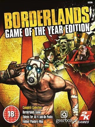 borderlands game of the year edition xbox one key