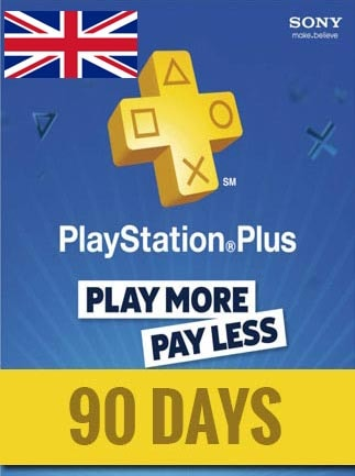 Playstation Plus CARD PSN UNITED KINGDOM 90 Days - caja