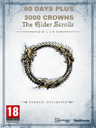 The Elder Scrolls Online: Tamriel Unlimited Plus Membership Key The Elder Scrolls Online GLOBAL 60 Days - box