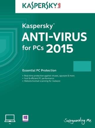 Kaspersky Anti-Virus 2015 2 Devices GLOBAL Key PC Kaspersky 12 Months