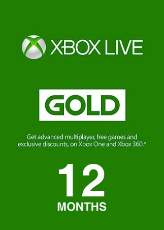 Xbox Live GOLD Subscription Card 12 Months NORTH AMERICA XBOX LIVE - box