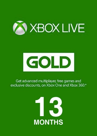 Xbox Live GOLD Subscription Card 13 Months - Key GLOBAL